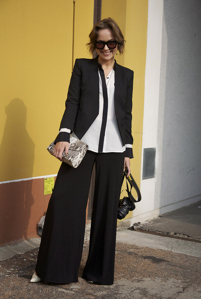 We love the billowy effect versus tailored pieces in this wide-leg ensemble. Photo courtesy of Phil Oh