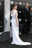 Anne showed off the gorgeous draping on the back of her Prabal Gurung gown.