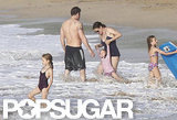 Ben Affleck and Jennifer Garner hit the beach withViolet and Seraphina.