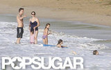 The whole Garner-Affleck family went swimming.