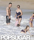 The Garner-Affleck family hung out on the beach in Puerto Rico.