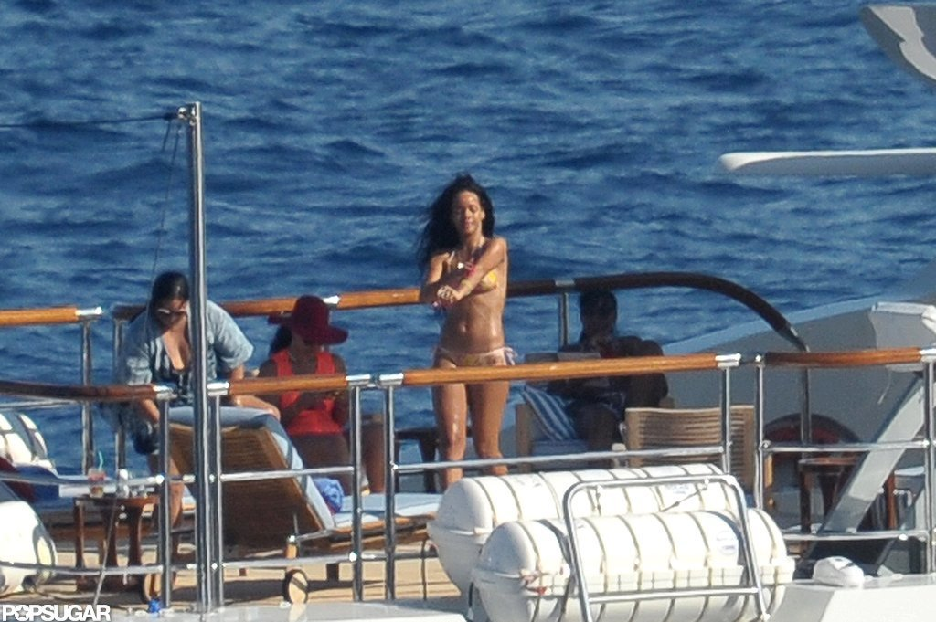 Rihanna sported a bikini.