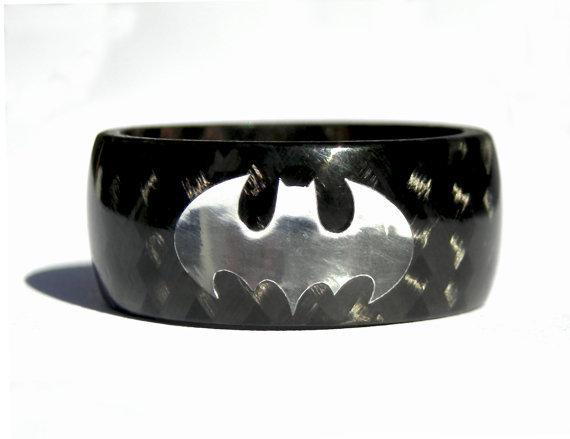 Carbon Fiber Batman Ring ($60)