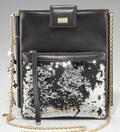 For the ultimate fashion girl, tote this sequined chain-handle case to all your market appointments and fashion shows.  Dolce & Gabbana Sequined-Pouch iPad Case ($1,175)