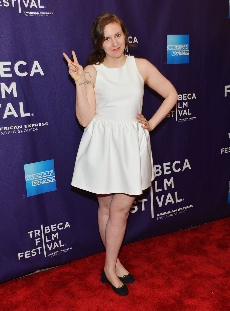 Lena paired simple black flats with a ladylike LWD at this year's Tribeca Film Festival premiere of Supporting Characters.
