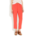 These rayon pants have trouser detailing and a loose, breezy fit.