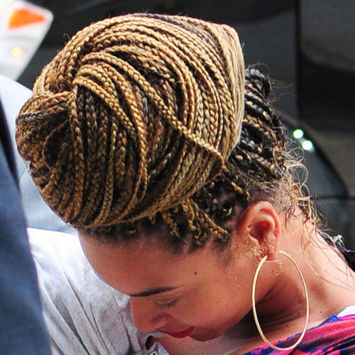 Beyonce's New Braided Bun Hairstyle