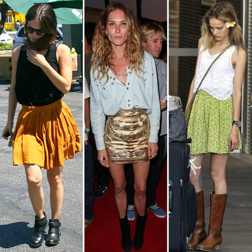 How to Wear Skirts With Boots (Celebrity Pictures)