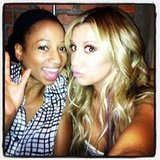 Ashley Tisdale reunited with her High School Musical pal Monique Coleman. Source: Instagram user ashleytis