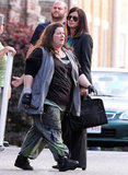 Sandra Bullock and Melissa McCarthy on the set of The Heat.