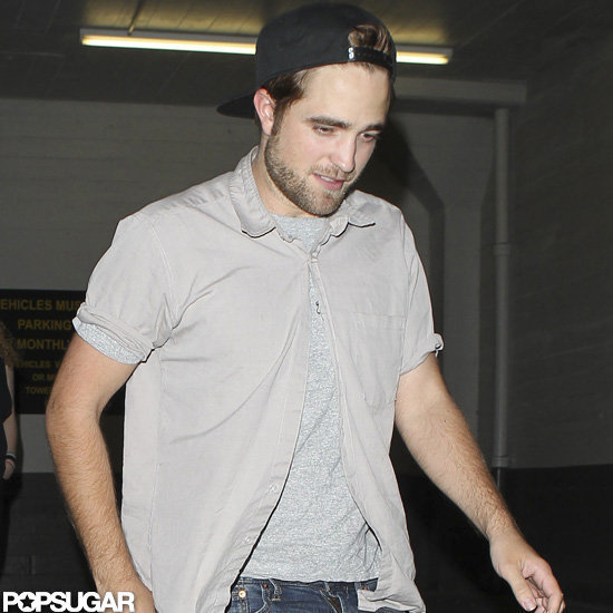 Robert Pattinson left The Hotel Cafe in Hollywood, CA.