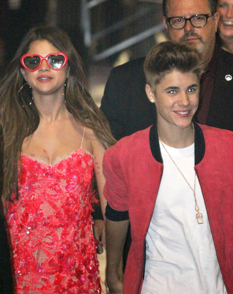 Justin Bieber led the way for Selena Gomez on the way into Katy Perry's Part of Me premiere in LA in June.