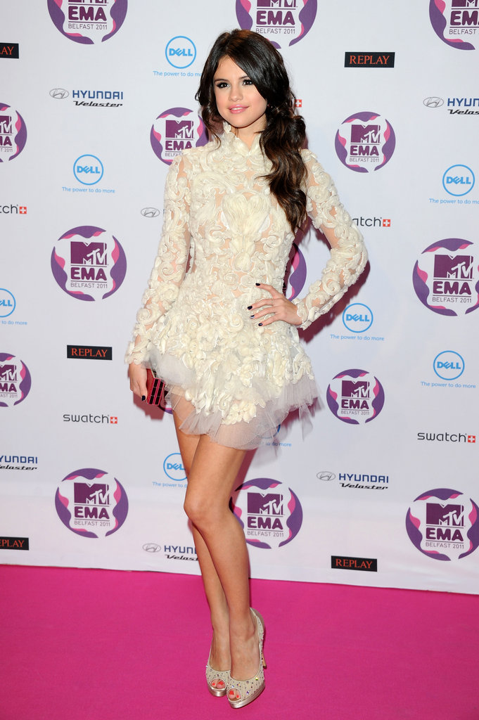 Selena was the belle of the ball in a Marchesa mini at the MTV Europe Music Awards in 2011.