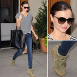 Shop Miranda Kerr's awesome street-styled stripes.
