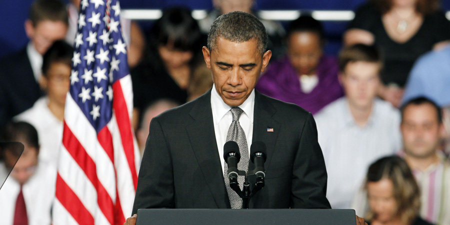 "Obama Tells Shooting Victims We Will ""Be Here For Them as a Nation"""