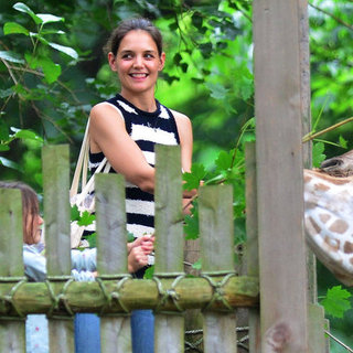 Katie Holmes Take Suri Cruise To The Zoo To Feed Giraffes