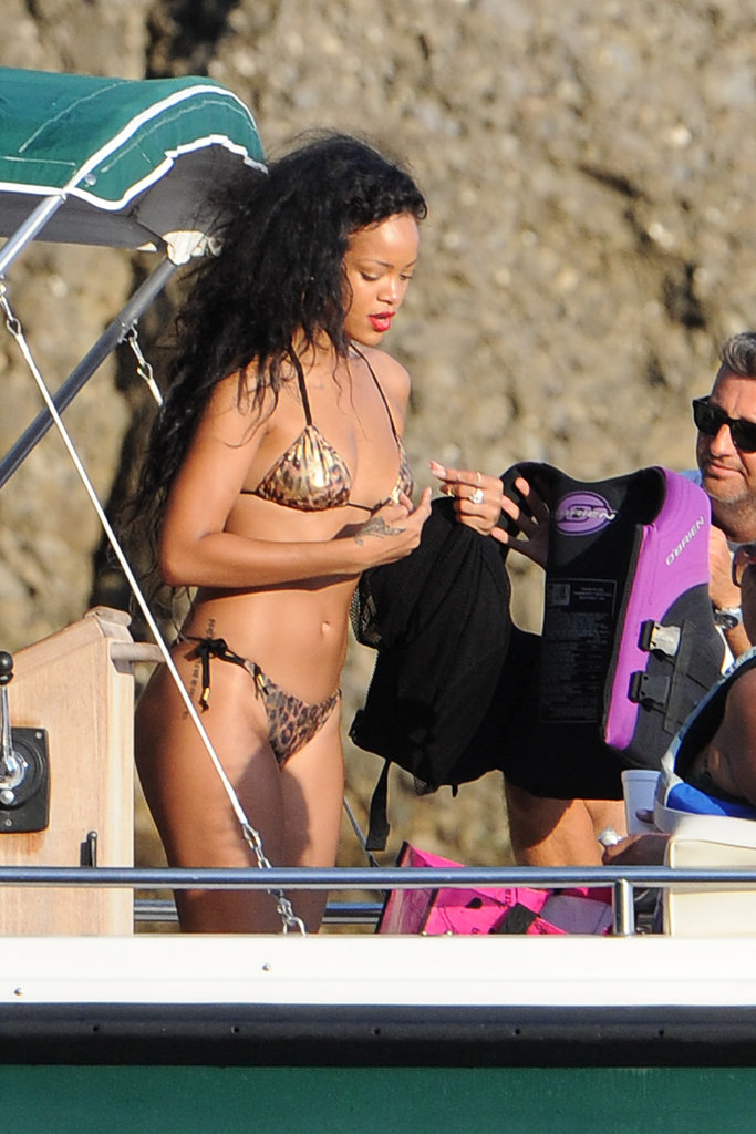 Rihanna Goes Wild in a Tiny Bikini