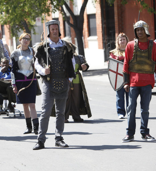 Matthew Perry and Tyler James Williams in Go On. Photo courtesy of NBC
