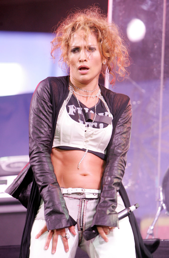 J Lo rocked the stage at the 2005 Wango Tango concert at Angel Stadium in Anaheim, CA.
