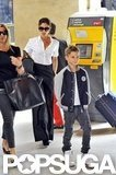 Victoria Beckham Shows Romeo the Shopping Ropes in France