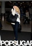 Blake Lively talked on her phone at LAX.