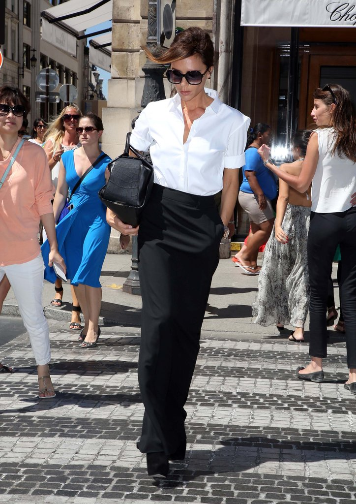 Victoria Beckham went shopping in Paris.