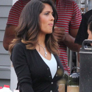 Salma Hayek on Grown Ups 2 Set | Pictures