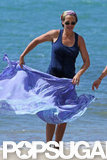 Julia Roberts hit the beach in Hawaii.