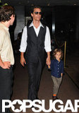 Matthew and Levi McConaughey walked together through the Empire Hotel in NYC.