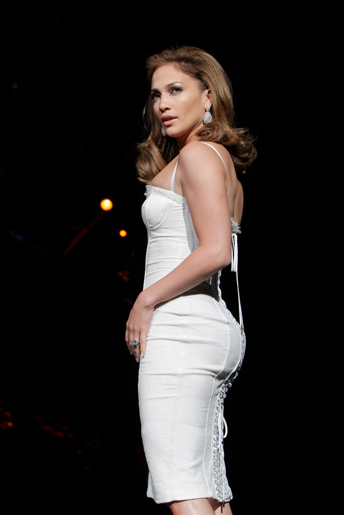 Jennifer Lopez's famous backside was on display during Milan Fashion Week in September 2009.