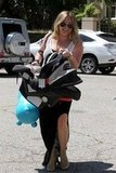 Hilary Duff had a smile on her face carrying Luca in LA.
