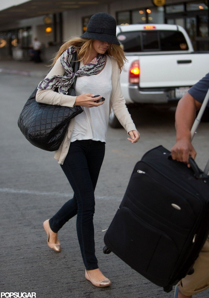 Blake Lively traveled to LA with Ryan Reynolds.