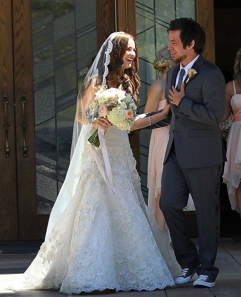 Lee DeWyze and Jonna Walsh on their wedding day.
