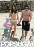 Kate Beckinsale wore a white bikini in April 2005 while in Cabo with Len Wiseman and daughter Lily.