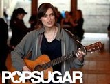 Keira Knightley plays the guitar on set.