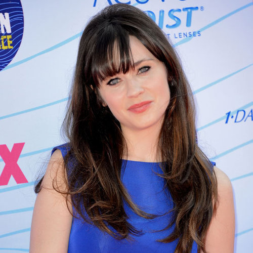 Zooey Deschanel's Beauty Look at the 2012 Teen Choice Awards