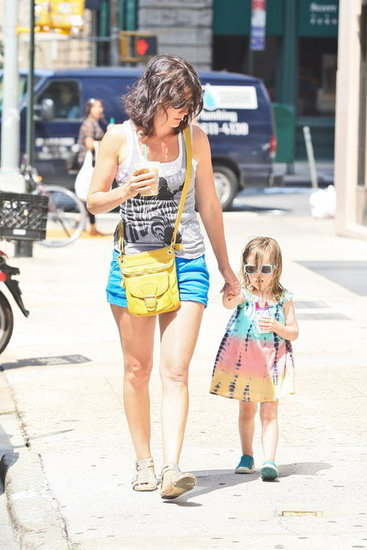 Cobie Smulders hung out in NYC.