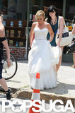 Amy Poehler in a wedding dress.