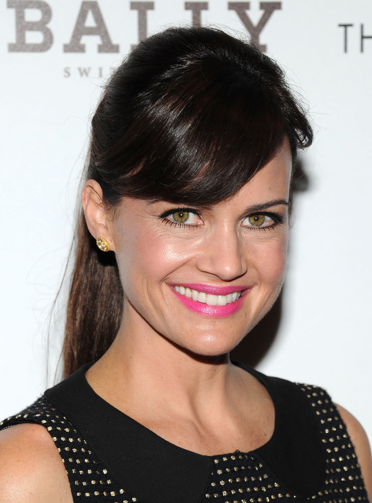 Carla Gugino smiled at a screening of Killer Joe.