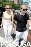 Jennifer Lopez and Casper Smart had lunch together in NYC.
