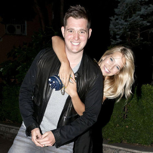 Michael Buble in Rome With His Wife