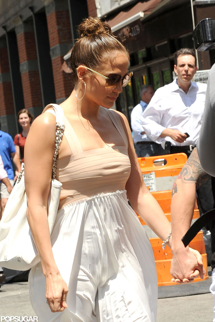 Jennifer Lopez had lunch in NYC on her birthday.