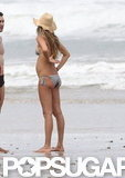Pregnant Gisele Bundchen's bump was on display.
