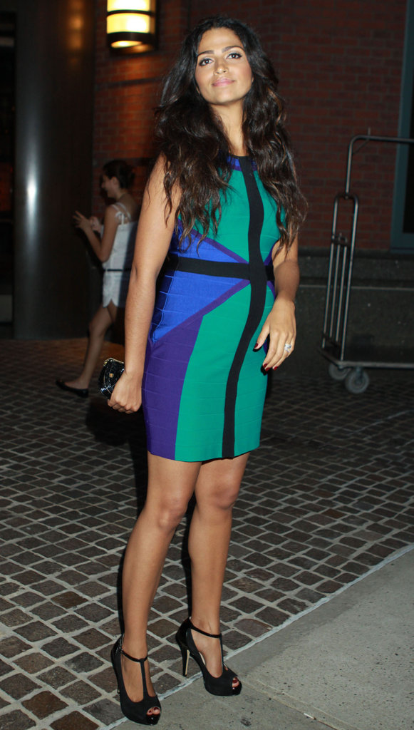 Camila Alves wore a bright colored dress to the screening of Killer Joe in NYC.