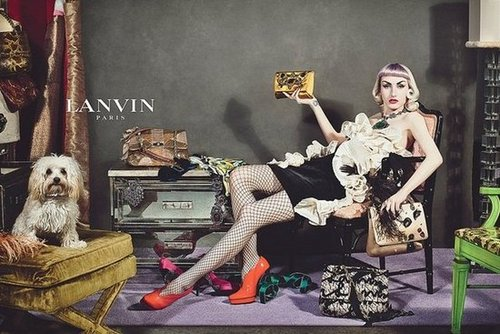 Alber Elbaz's signature interpretation of quirky elegance takes center stage in the Lanvin Fall 2012 ad campaign, which features real people instead of models.