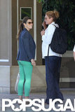 Jessica Biel wore green jeans in LA.