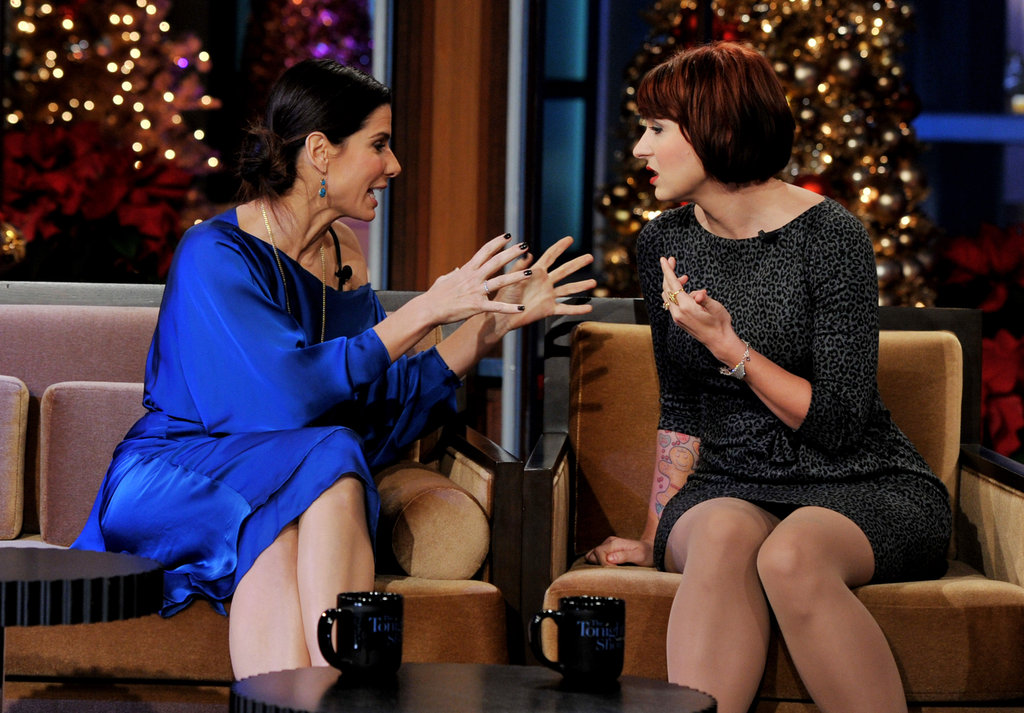 Sandra Bullock and Diablo Cody found themselves in the hot seat next to Jay Leno during a December 2011 taping of The Tonight Show.