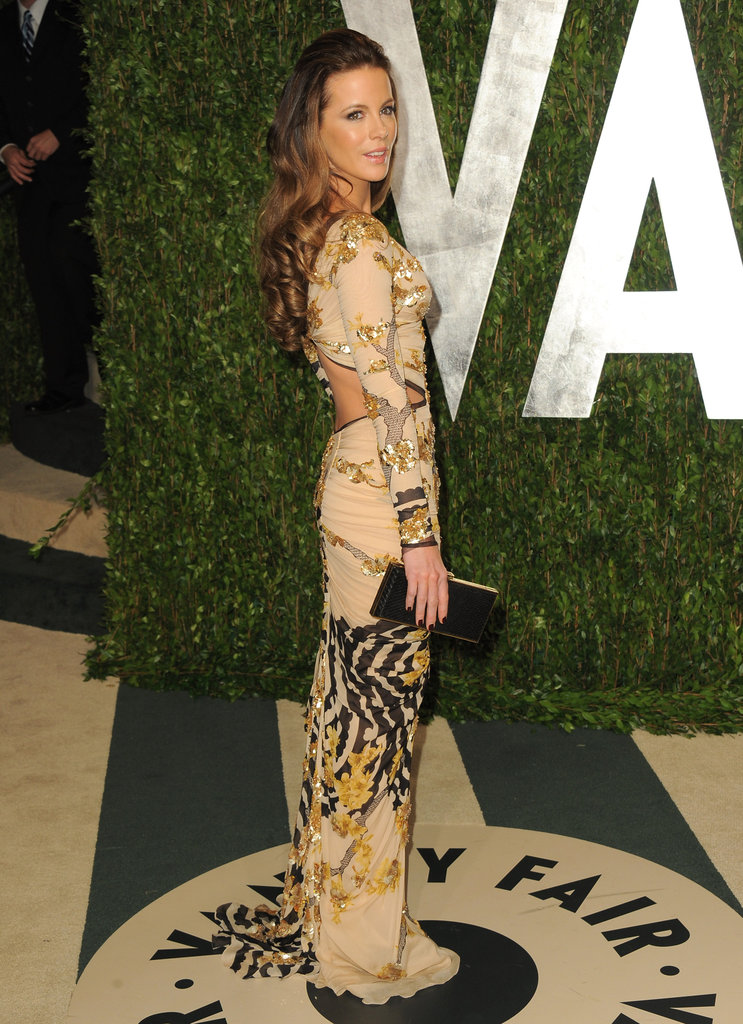 In February, Kate Beckinsale showed some skin in a cutout dress for the Vanity Fair Oscar party.