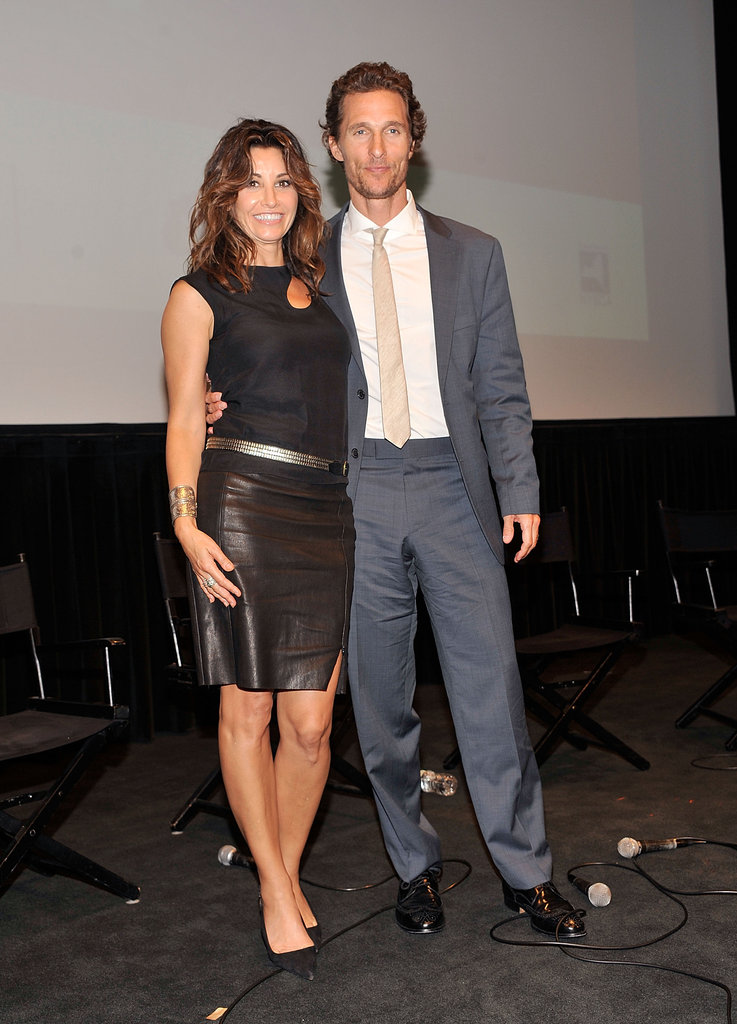 Matthew McConaughey got together with Gina Gershon at the Killer Joe screening in NYC.