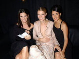 Sandra Bullock, Gwyneth Paltrow, and Salma Hayek were all smiles at the 2001 VH1 Vogue Fashion Awards in NYC.
